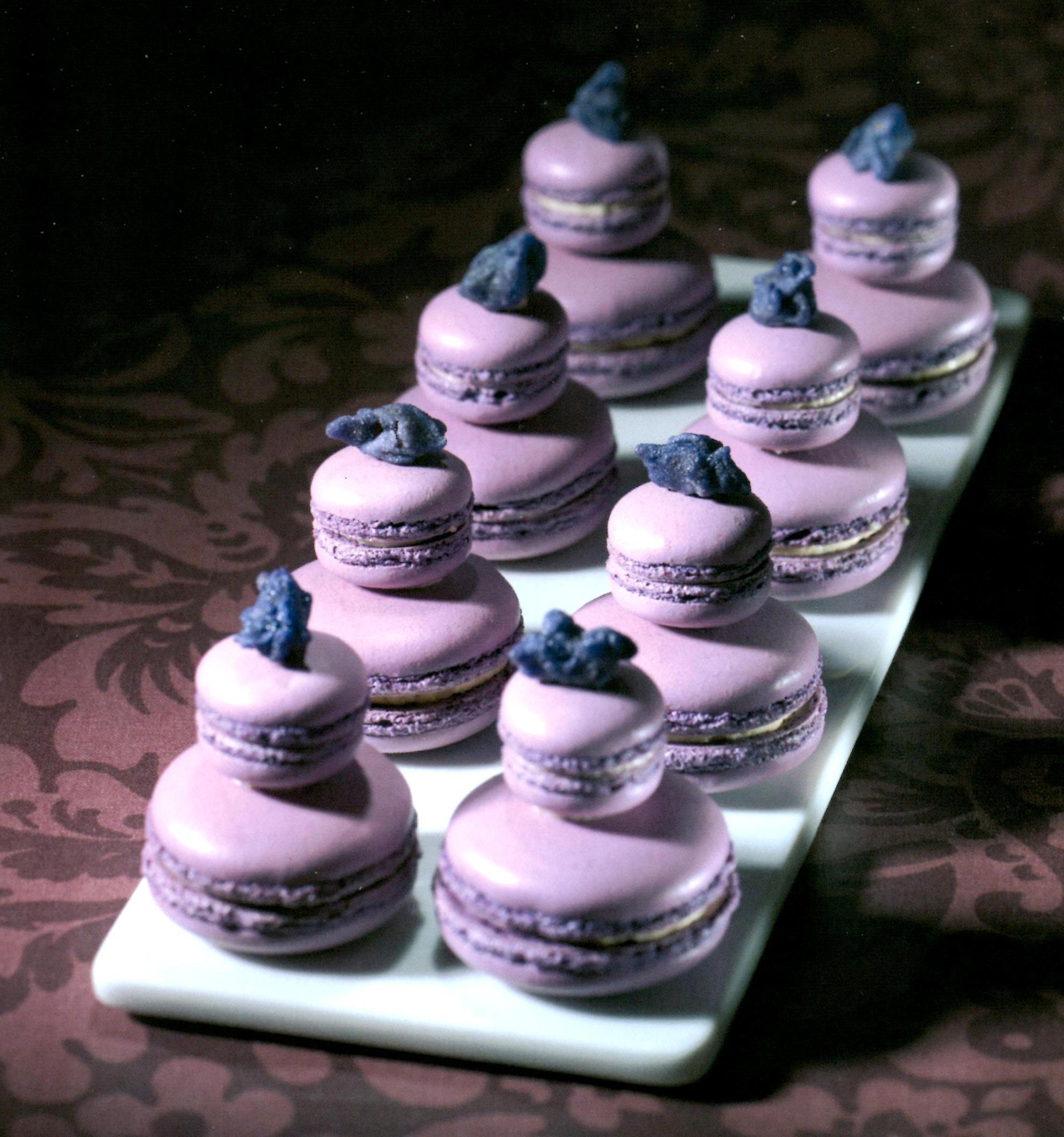 Les religieuses en macarons à la violette